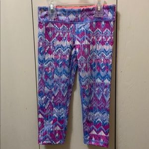 Ivivva Blue and Pink Crop Exercise Pants